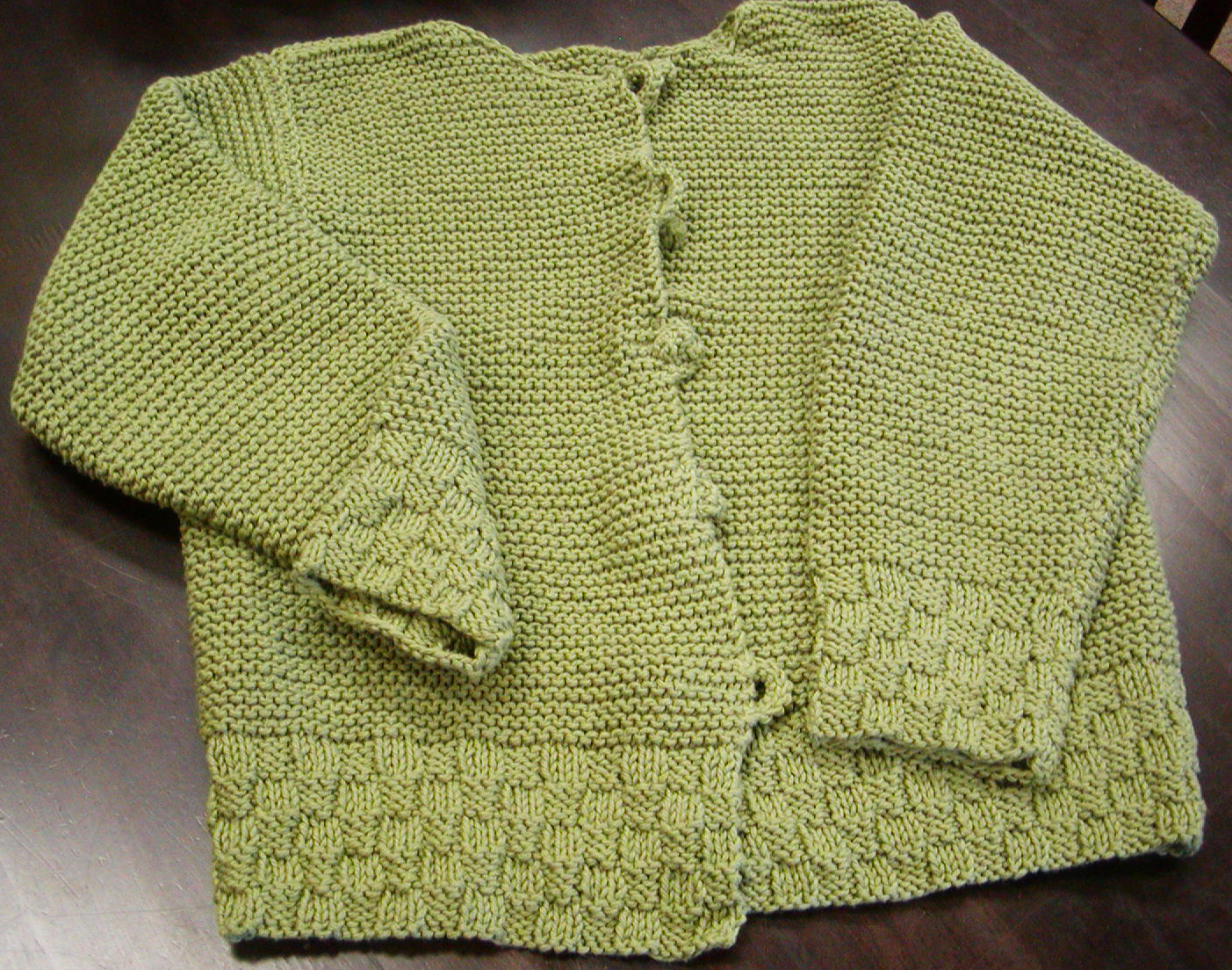 Knitting Stitch By Judy : Judy s Basket & Garter Stitch Cardigan where craft creates community.